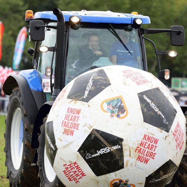 Marty Morrissey playing Tractor Football