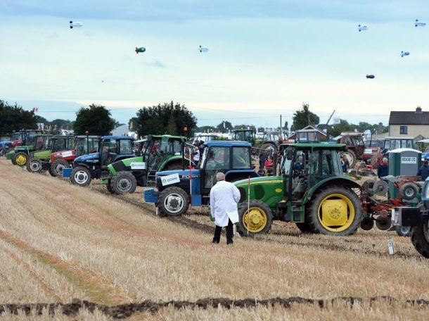 Tractors prepare for the Ploughing Championships