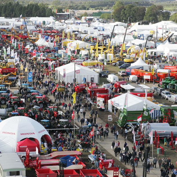 Overhead view of the Ploughing Championships 2016