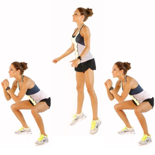 Squat jump demonstration - Home Workout