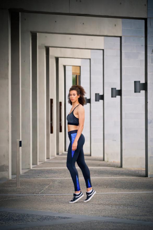 I-SPY Fitness & Yoga Leggings - New Range - yoga pants - black with blue