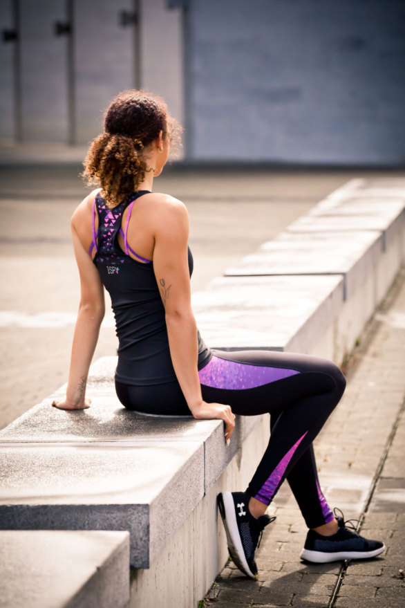 Black Leggings - fitness clothing for women - yoga pants & yoga top view