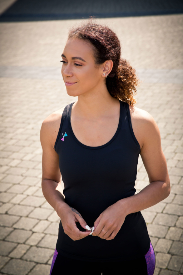 Yoga top - womens fitness clothing by I Spy - front view