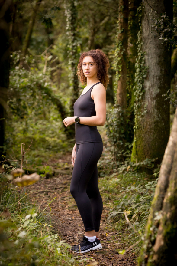 I Spy Fitness clothing for women - black capris leggings and black yoga top