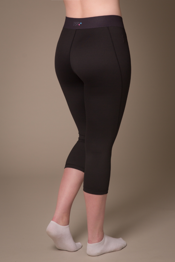 I Spy Black capris leggings - back view