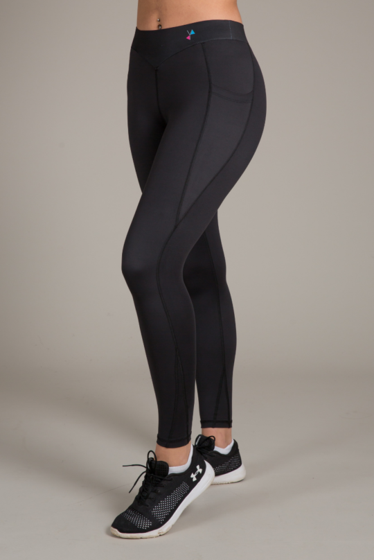 Black Leggings with Pockets for womens fitness - yoga gear