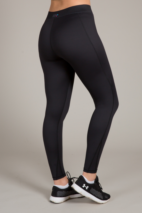 Black Leggings with Pockets - exercise clothes for womens fitness and yoga - full length