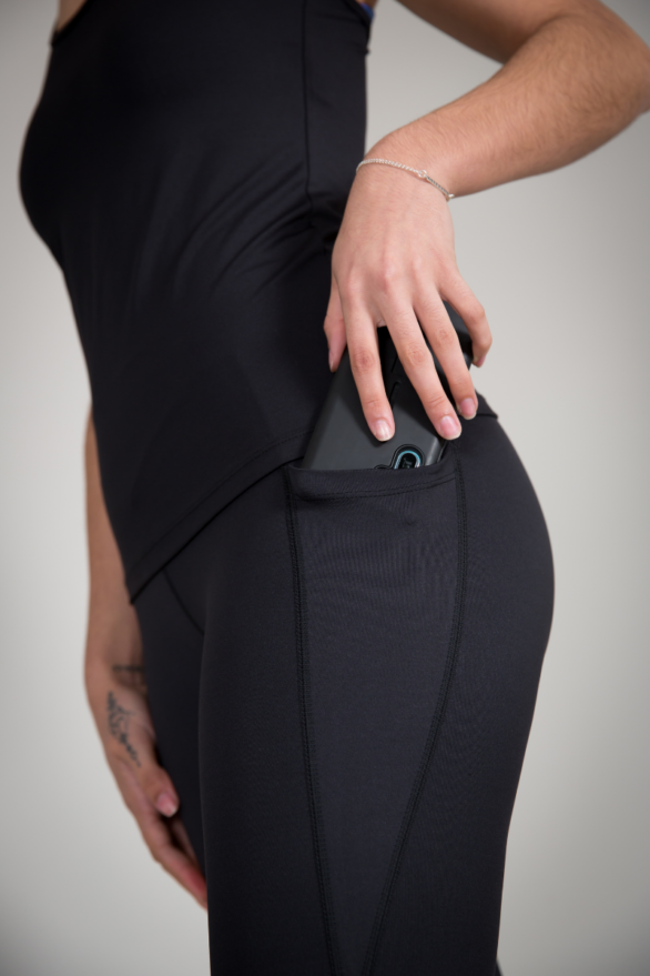Black Leggings with Pockets - yoga wear for womens fitness